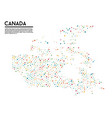 geometric simple minimalistic style canada map vector image