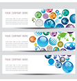 globe banners vector image vector image