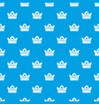 gold crown pattern seamless blue vector image vector image