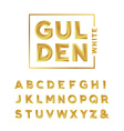 Golden font alphabet with gold effect letters vector image vector image