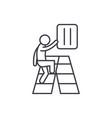 gradual development line icon concept gradual vector image