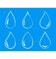 graphic set water drops vector image vector image