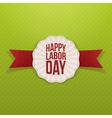 Happy Labor Day paper white Banner vector image vector image