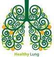 healthy lung symbol vector image vector image