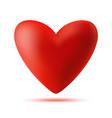 heart 3d logo valentine heart icon vector image vector image