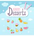Heavenly deserts logo concept vector image vector image