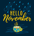 hello november modern lettering typography vector image vector image