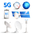 high speed mobile internet realistic set vector image vector image