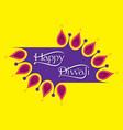 indian festival diwali greeting design vector image vector image