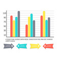 infographics and diagrams with arrowheads info vector image vector image