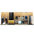 interior scene of men clothing store vector image vector image