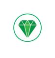 jewelry symbol diamond icon vector image vector image