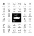 line icons set sale vector image