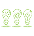 love and saving energy concept vector image vector image