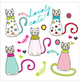 Lovely cats vector image