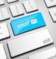 Mail keyboard vector image