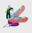 marker sketch drawing of egyptian goddess isis vector image vector image