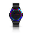 metallic men wrist watch vector image