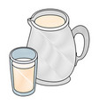 milk pitcher icon vector image