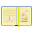 open chemistry book icon flat style vector image