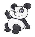 panda waving hand vector image vector image