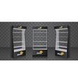 pos poi cardboard glass floor display rack for vector image vector image