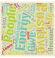 Positive Energy text background wordcloud concept vector image vector image