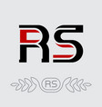 r and s initials or logo rs - monogram or vector image vector image