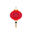 Red Chinese lantern Chinese New Year vector image vector image