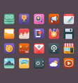 set of business app icons vector image vector image