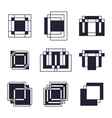 Set of geometric shapes Trendy icons tattoo and vector image vector image