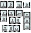 set photo frames picture slide vector image vector image