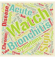 sign of bronchitis text background wordcloud vector image vector image