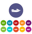 sports powerboat set icons vector image vector image