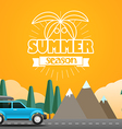 Summer season flat design vector image vector image