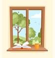 summer window vector image