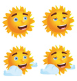 Sun with Different Emotions2 vector image