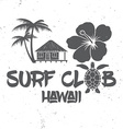 Surf club concept Summer surfing retro badge vector image vector image