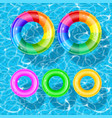swim ring set vector image vector image