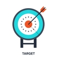 target flat concept vector image