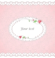 Template of romantic card vector image vector image