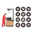 tire service maintenance vector image