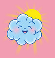 two clouds character vector image