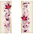 Vertical vintage floral banner vector image vector image