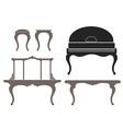 Vintage Furniture vector image vector image