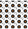 vinyl and headphones music background vector image