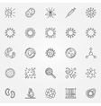 Virus icons set vector image