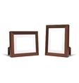 Volumetric wooden frames vector image