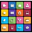 Web Icons Set in Flat Design vector image vector image