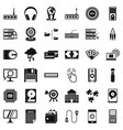 web progress icons set simple style vector image vector image